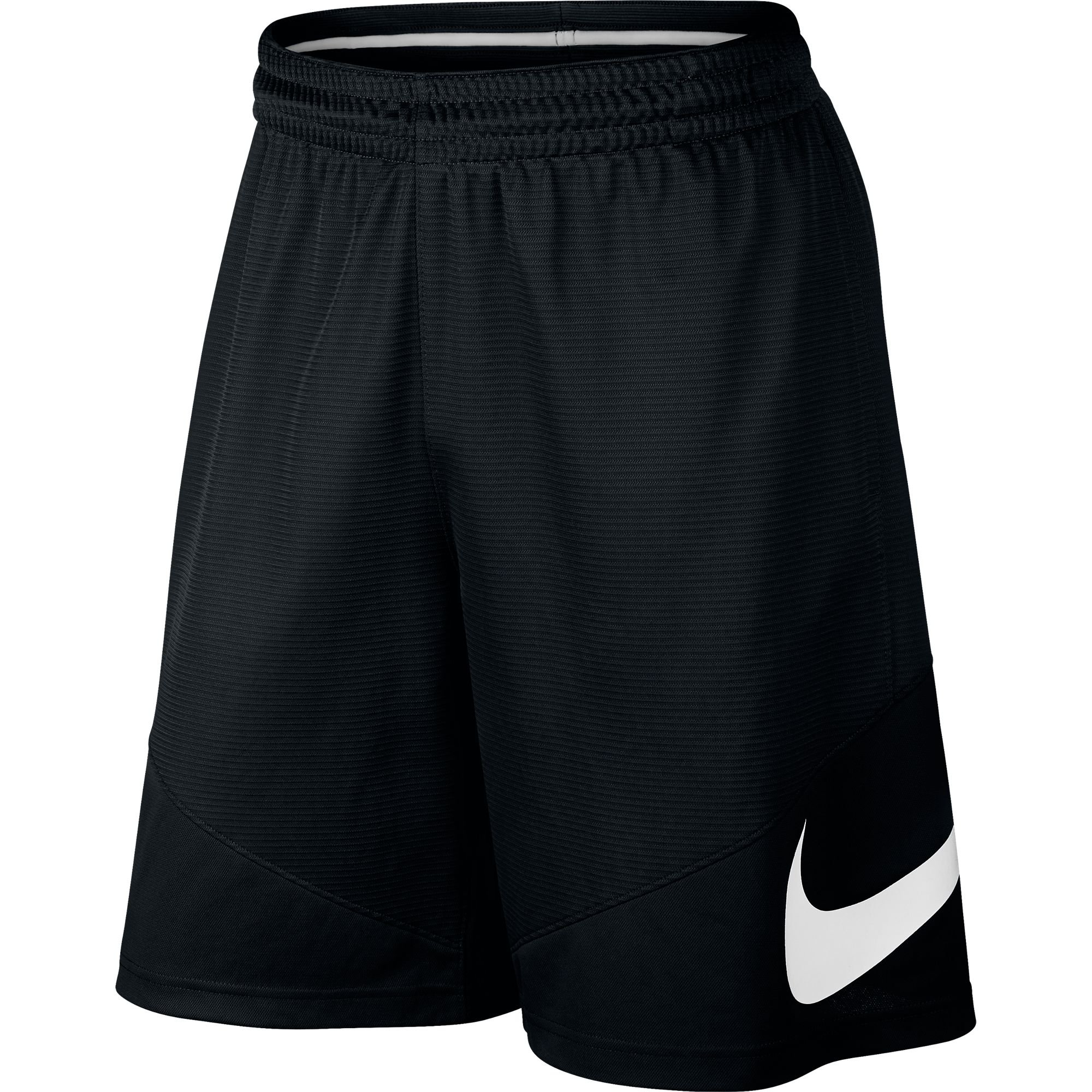NIKE Men's Basketball Shorts, Black/Black/Black/White, Large