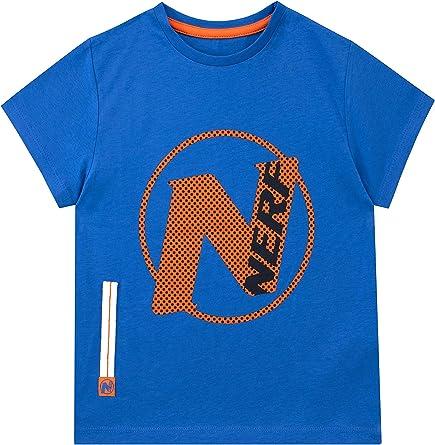 Nerf Camiseta de Manga Corta para niños: Amazon.es: Ropa y accesorios