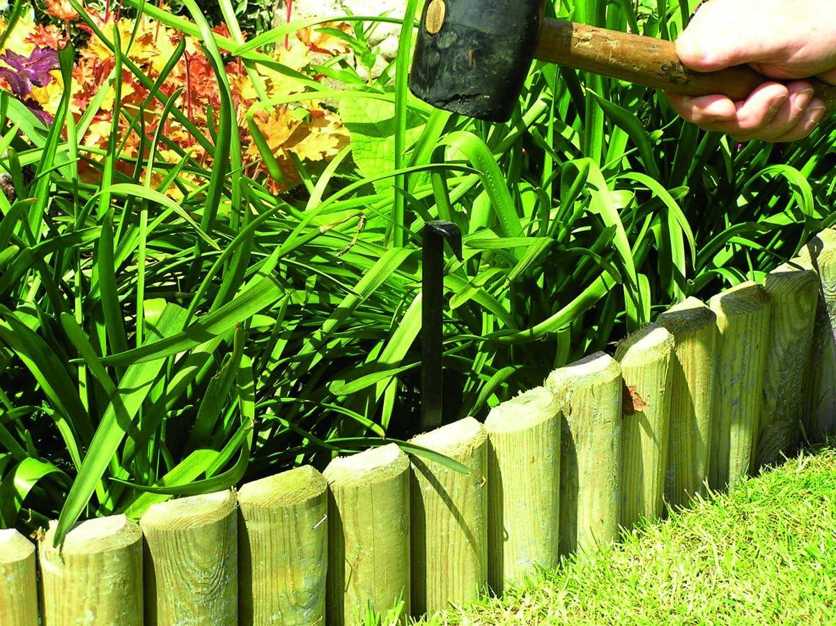 Valla divisora baja para jardín troncos, largo de 46 cm: Amazon.es: Jardín