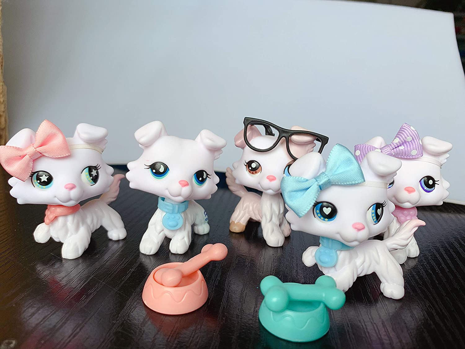 Judylovelps lps White Collie Custom ooak Collie Ice Cream #059#023#024#032#084 Rare Figures Collectable Kids Gift