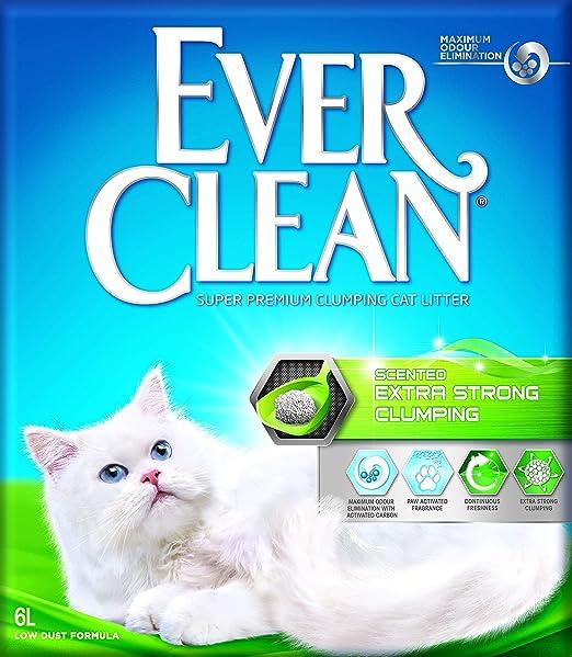 Ever Clean Arena para Gato grumo Extra Fuerte, 6 L.: Amazon.es ...