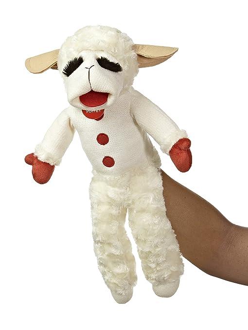 Amazon Com Aurora World Plush Lamb Chop Puppet 17 Toys Games