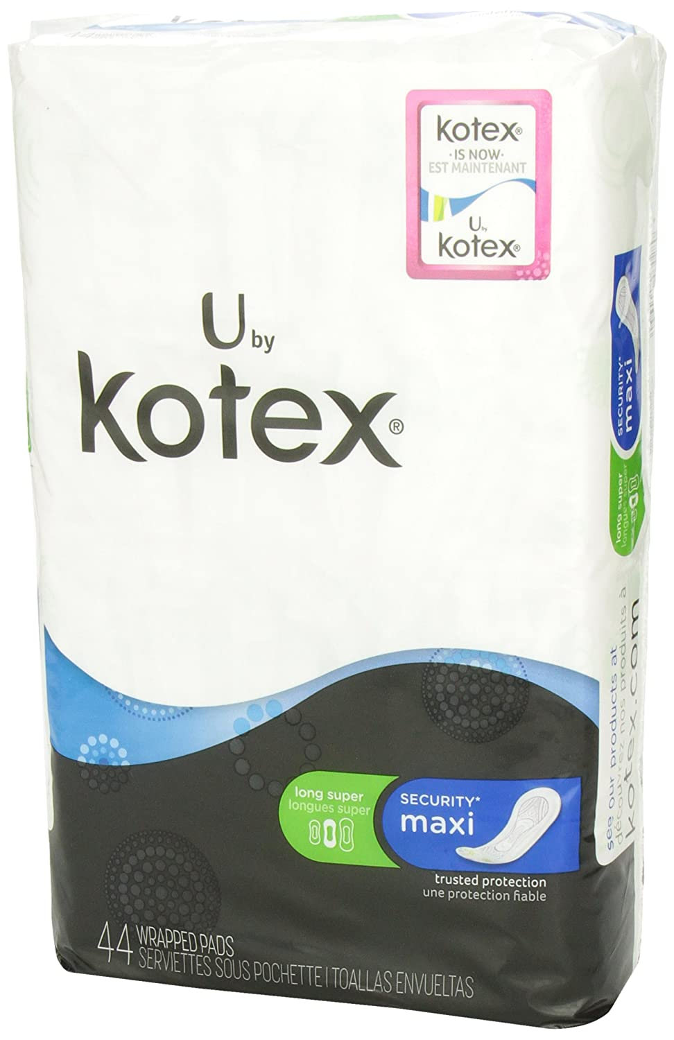 Amazon.com: U by Kotex Security Maxi, Long Super, Unscented, 44 Count: Health & Personal Care