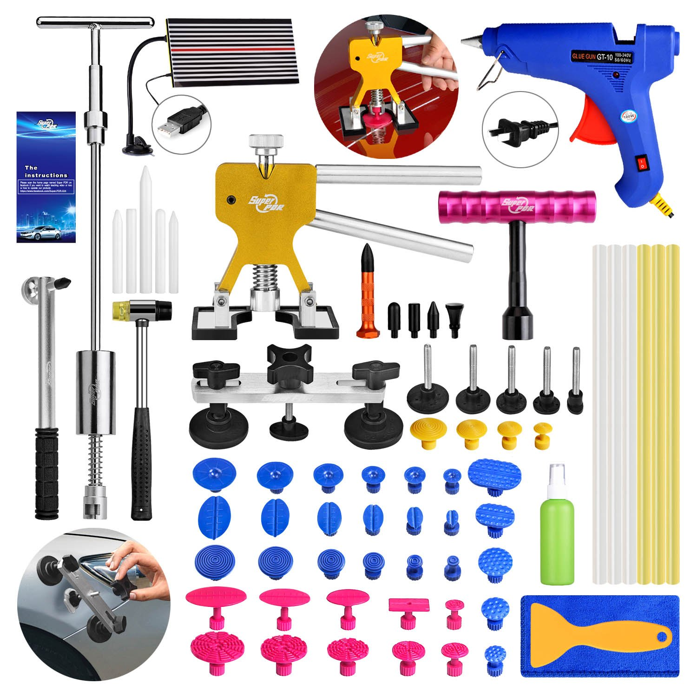 AUTOPDR 68pcs DIY Car Auto PDR Removel Paintless Body Repair Dent Rod Tools Kit glue puller