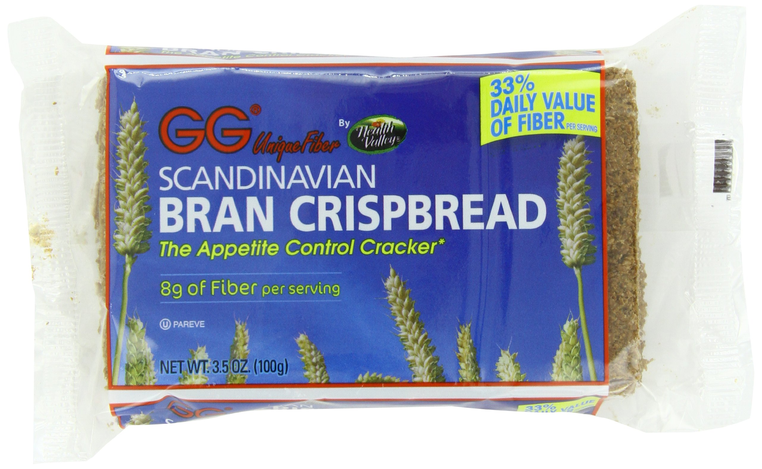 Health Valley GG Bran Crispbread, 3.5 Ounce (Pack of 30)