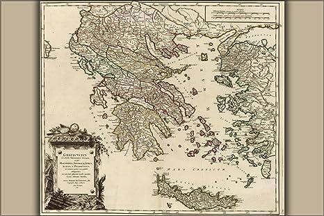 Ancient Greece Map Macedonia.Amazon Com 16x24 Poster Map Of Ancient Greece Graecia Vetus