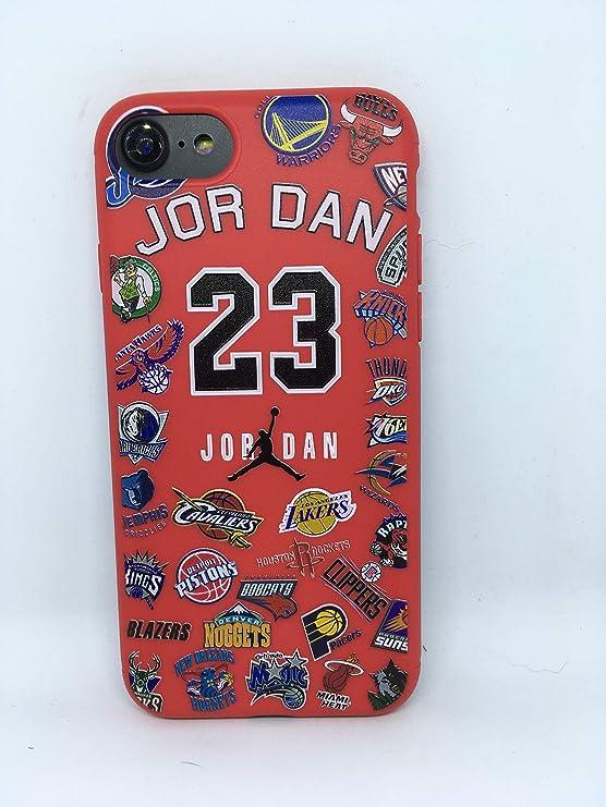 Funda Carcasa de Silicona iPhone 7 o iPhone 8 Basketball Equipos ...