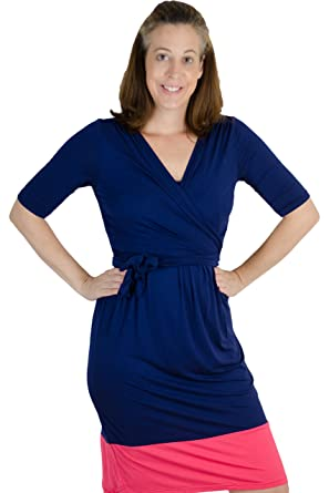 f99b773d4cd Image Unavailable. Image not available for. Color  Latched Mama Women s  Nursing Wrap Dress ...