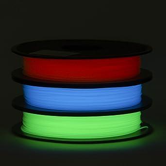 Amazon.com: Juego de filamentos PLA de 0.069 in, que brillan ...