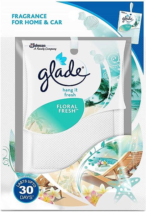 GLOBALRICH Glade Hang It Fresh – Bolsas de Fragancia para armarios, cajones, Coches (Fresco y Floral) 8 g Cada uno (Paquete de 2 – Juego de Prueba) (HK 054): Amazon.es: Juguetes y juegos
