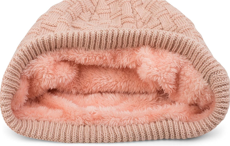 Valpeak Winter Warme Beanie Strickm/ützen f/ür Damen,Herren Beanie Strickm/ützen,Unisex Long Slouch Beanie Grobstrick M/ütze