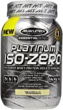 MuscleTech  Platinum  ISO Zero, The Purest Whey Protein Isolate Available, Vanilla, 3.04 lbs (1.38kg)
