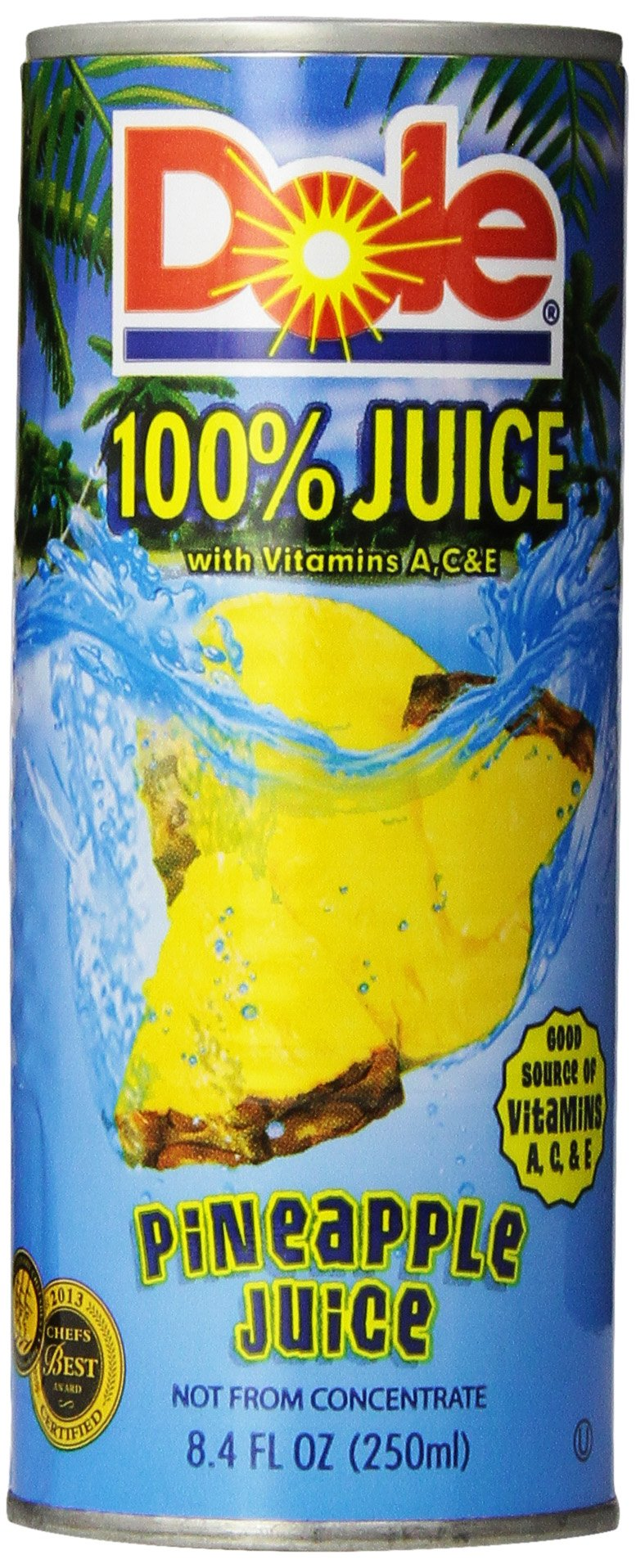 Dole Pineapple Juice, Not From Concentrate, 8.4 oz. 24 Count