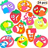 Bath Toys for Kids - Bathtub Toys for Toddlers - Baby Puzzles for Girls - Bath Stickers for Boys - Pool Toys - Foam Puzzle - Fun Tub Toy Set - Fine Motor Skills (12 Puzzles - 24 items)
