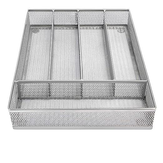 Bandeja de cubertería de 5 compartimentos, organizador de ...