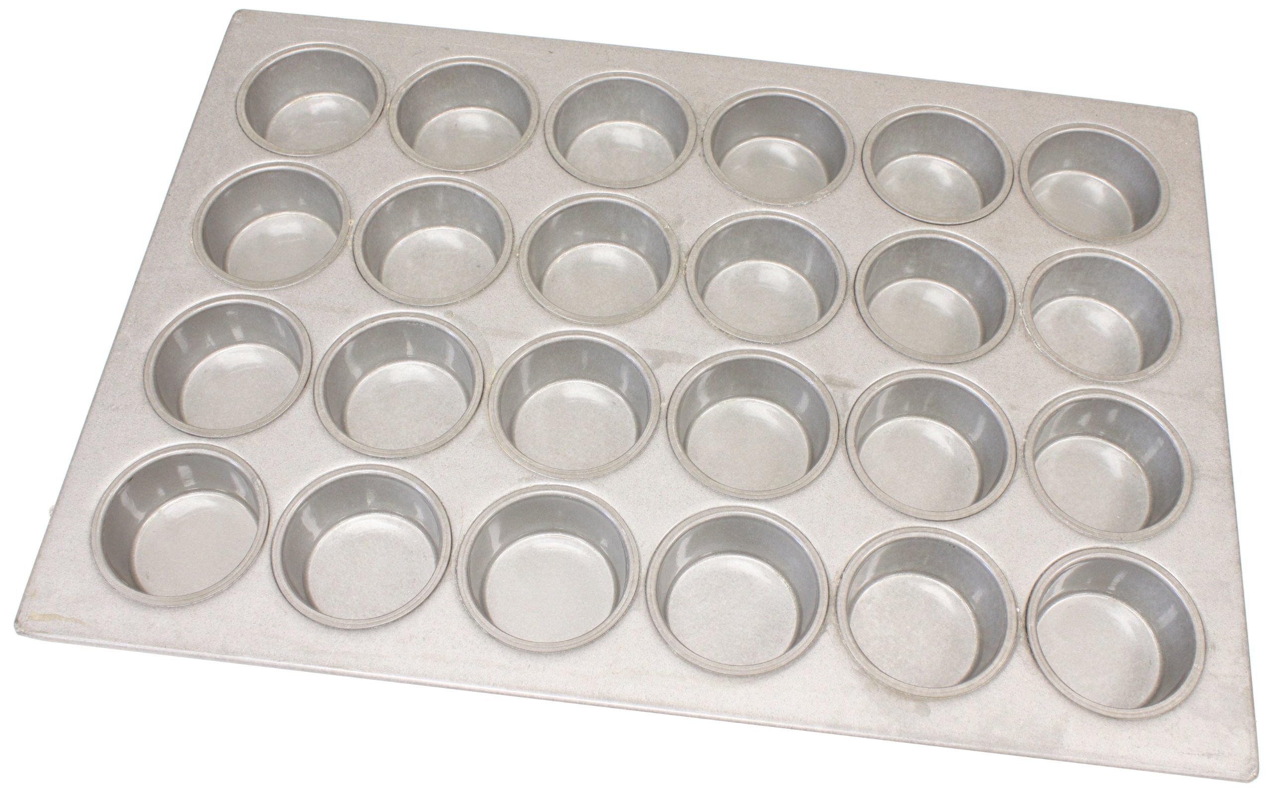 Magna Industries 15338 22-Gauge Aluminized Steel Jumbo Muffin Pan, 3-3/8'' Diameter, 4 x 6 Cups Layout (Pack of 6)