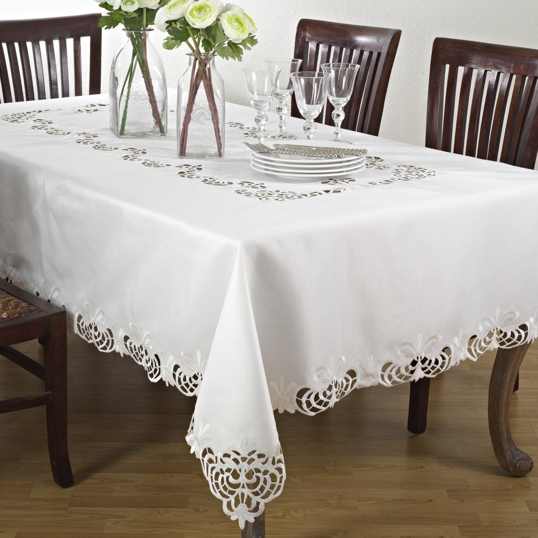 Classic Design Cutwork Tablecloth, Rectangular (70''x120'')