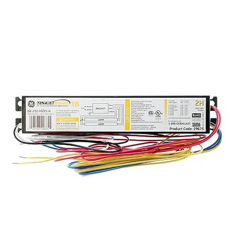 Ge Ge-232-Mvps-H 29675 Programmed Start Ballast, 2-Lamp, F32T8, 32W on