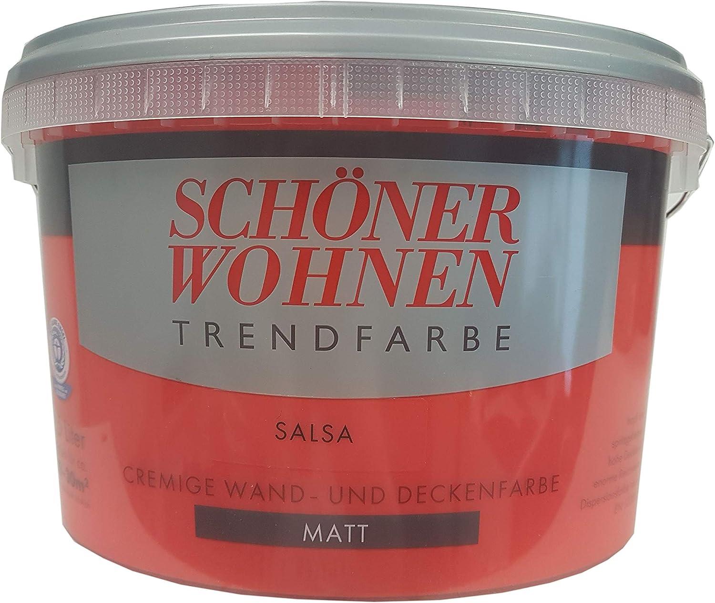 2 5 L Schoner Wohnen Trendfarbe Cremige Wandfarbe Salsa Matt Amazon De Baumarkt
