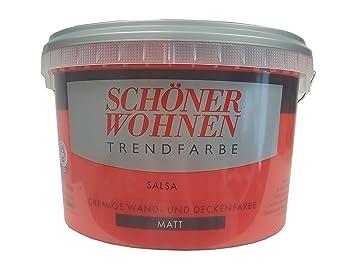 2,5 L Schöner Wohnen Trendfarbe, cremige Wandfarbe, Salsa Matt ...
