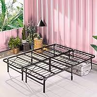 Zinus Smartbase Foldable Double Bed Base Premium Metal Steel - Folding Bed Frame Platform Mattress Foundation with Under…