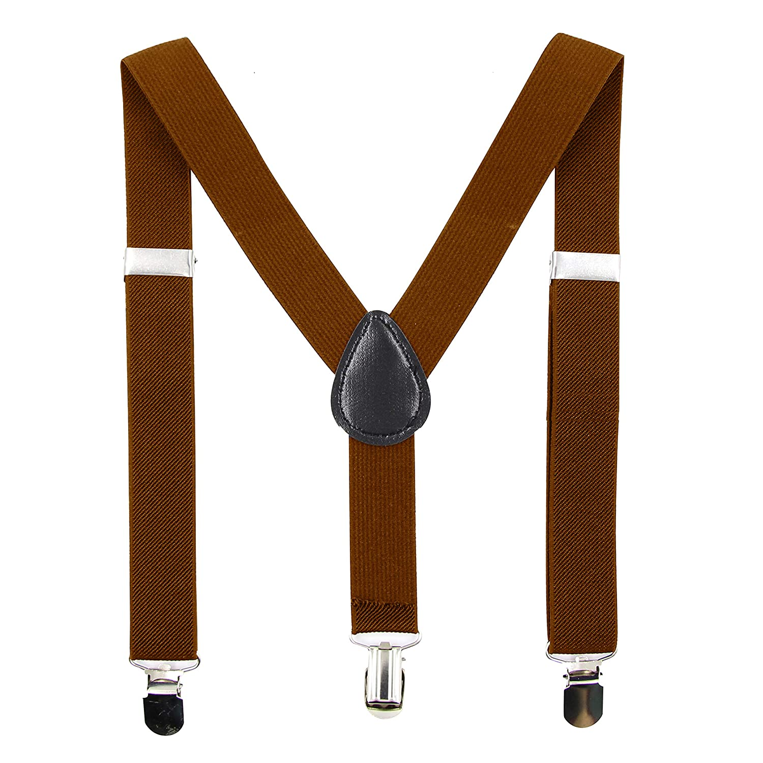 Hanerdun Unisex Kids Adjustable Suspenders with Strong Clips Elastic Suspenders For Boys /& Girls BOW-1015/_WINE RED STRIPE