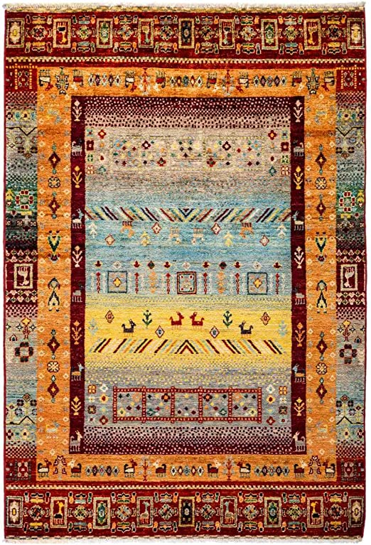 Solo Rugs Tribal Hand Knotted Area Rug 2 9 x 4 1 Pine