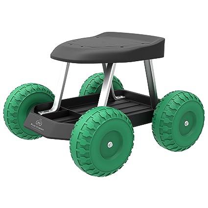 Awe Inspiring Amazon Com Pure Garden 82 Vy021 Garden Cart Rolling Scooter Machost Co Dining Chair Design Ideas Machostcouk