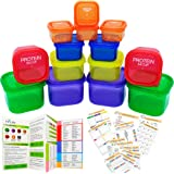 21 Day Portion Control Container Kit - LABELED - (14 Pieces) + COMPLETE GUIDE + 21 DAY PLANNER + 12 PCS PRINTABLE PDF…