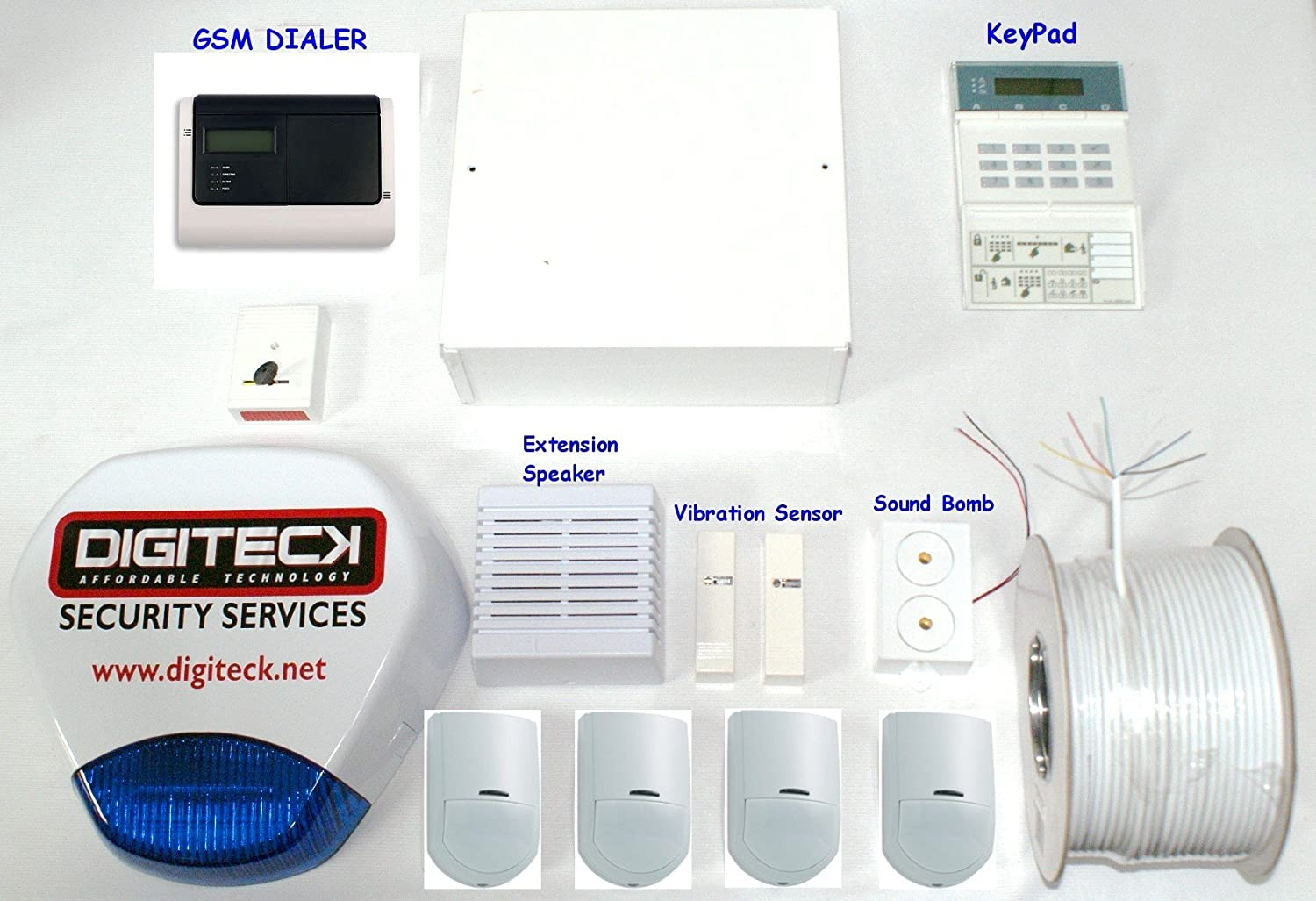 ak8 wired burglar alarm system with gsm auto dialer pet immune