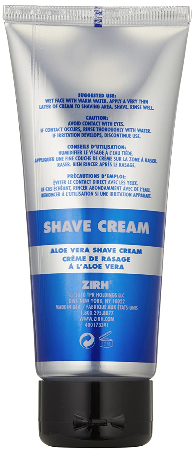 amazon com zirh aloe vera shave cream 3 3 fl oz luxury beauty