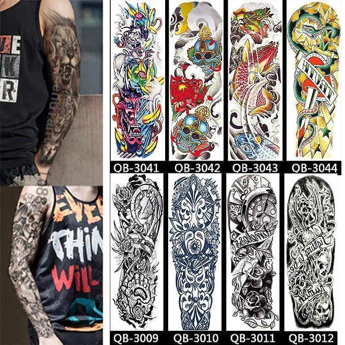 16 hojas de tatuaje temporal, tatuaje temporal, tatuaje temporal ...