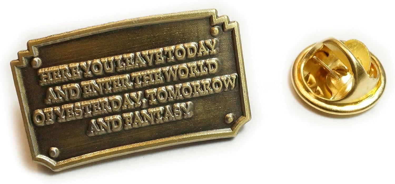 Disney Disneyland Entrance Plaque Fantasy Hat Jacket Tie Tack Lapel Pin