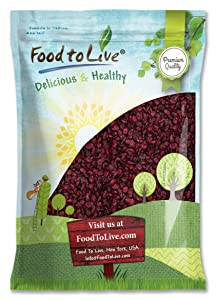 Dried Cranberries, 5 Pounds — Raw, Kosher, Vegan, Lightly Sweetened and Coated with Sunflower Oil, Unsulfured, Bulk