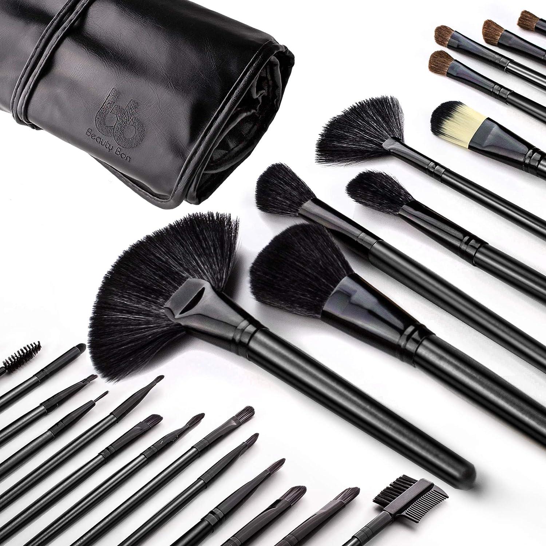 Amazon.com: Professional Cosmetic Makeup Brushes Set - Beauty Make Up Face Kit Eyeshadow Foundation Eyeliner Bronzer Concealer Contour Brush for Blending ...