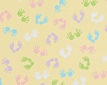 American Greetings Baby And Baby Shower Wrapping Paper, Baby Hands And  Feet, 2.5u0026quot;