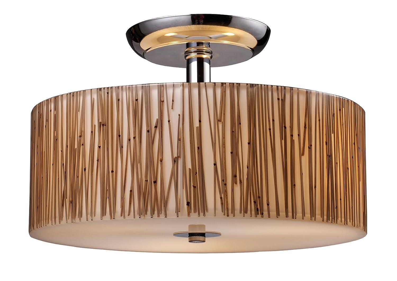 bamboo lighting fixtures. elk 190653 modern organics 3light semiflush in bamboo stem material polished chrome semi flush mount ceiling light fixtures amazoncom lighting