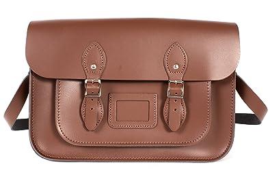 Oxbridge Satchels - Bolso estilo cartera de Piel para mujer marrón