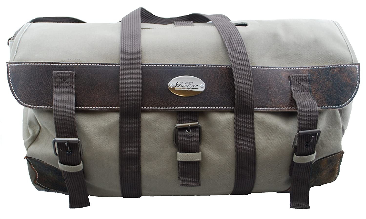 Amazon.com  La Rosa Design Extra Large Canvas Duffle Bag Luggage with Real  Leather  Automotive a300978fb387a