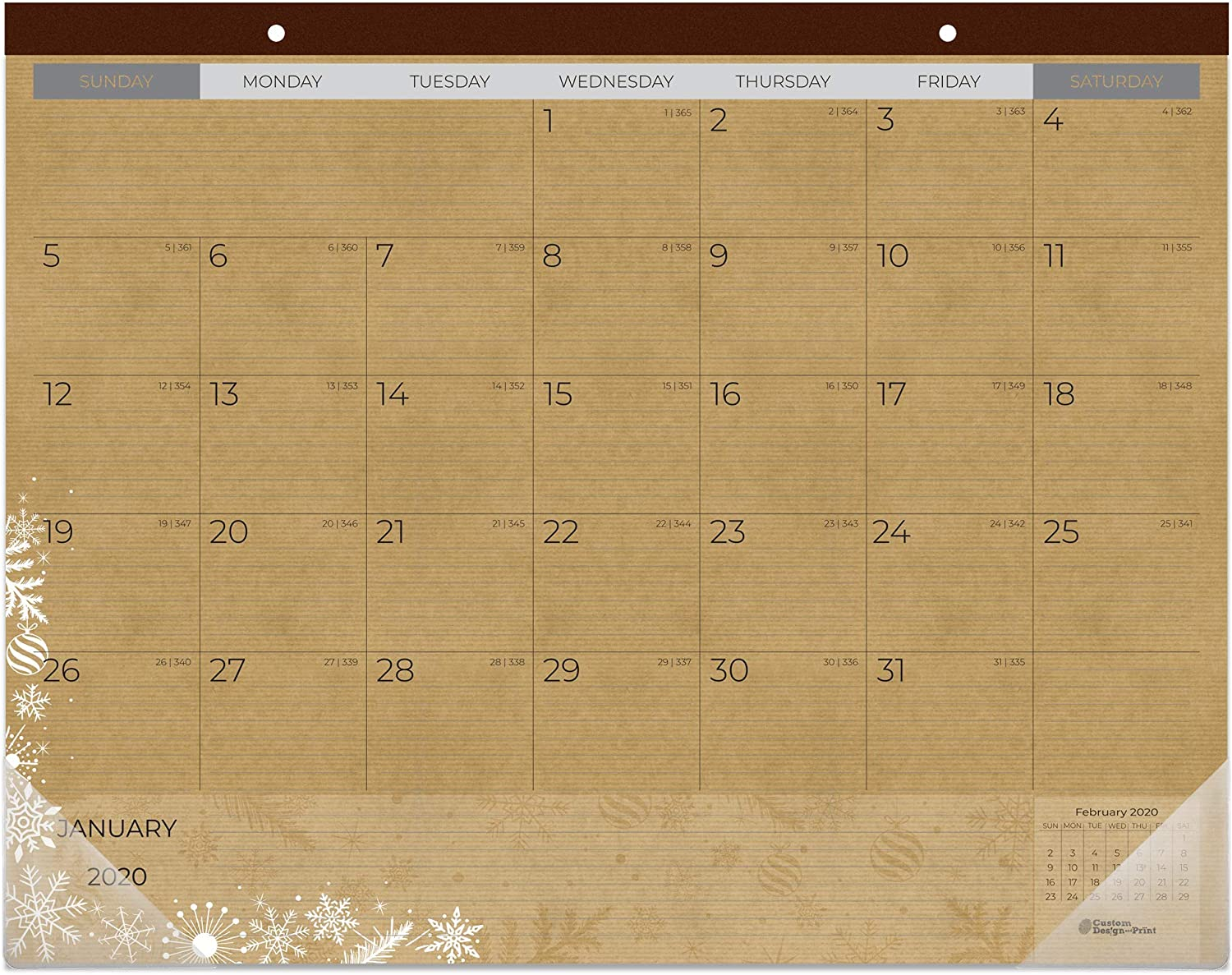 "Ktaft Large Desk Calendar 2020 | 2020 Desktop Calendar - 17"" x 22""