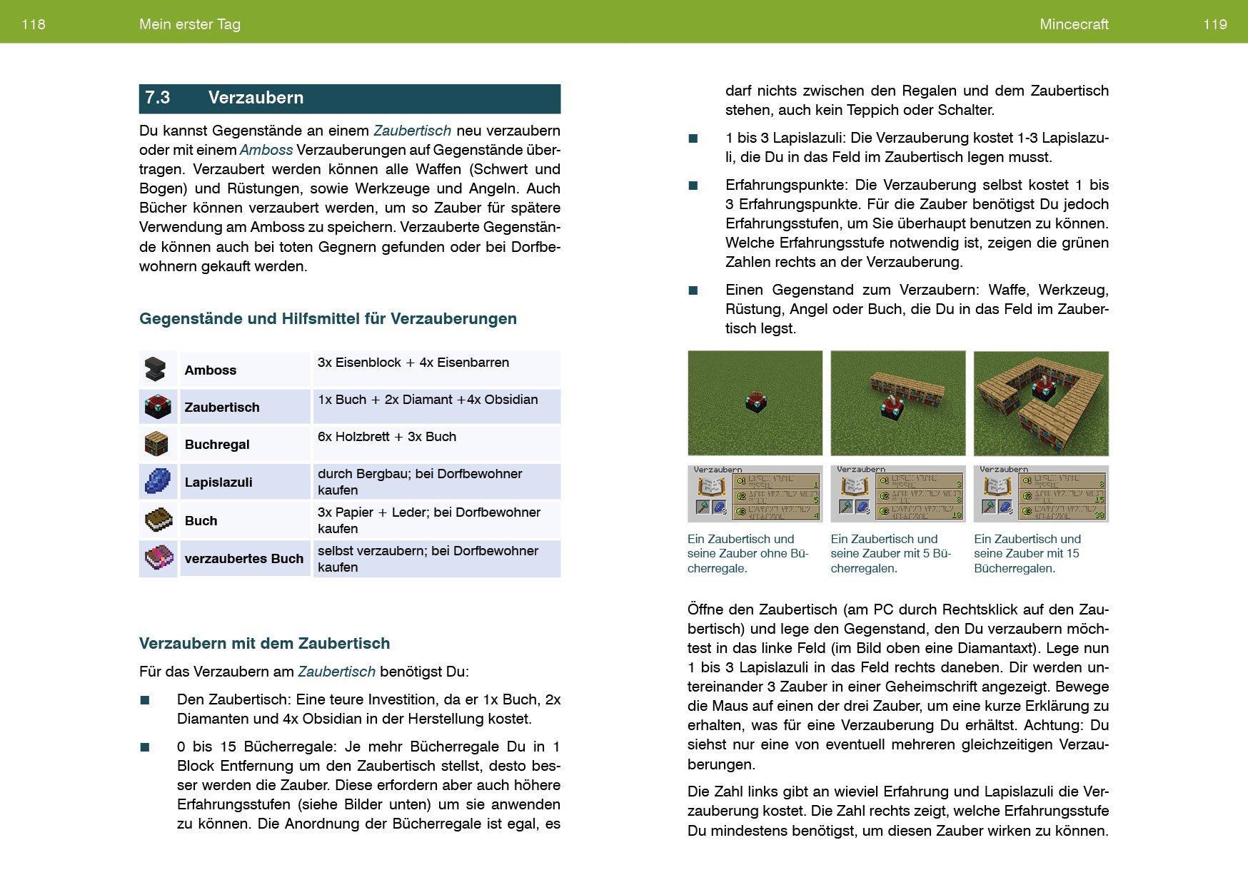 Bücherregale Minecraft minecraft leicht gemacht 9783832801809 amazon com books