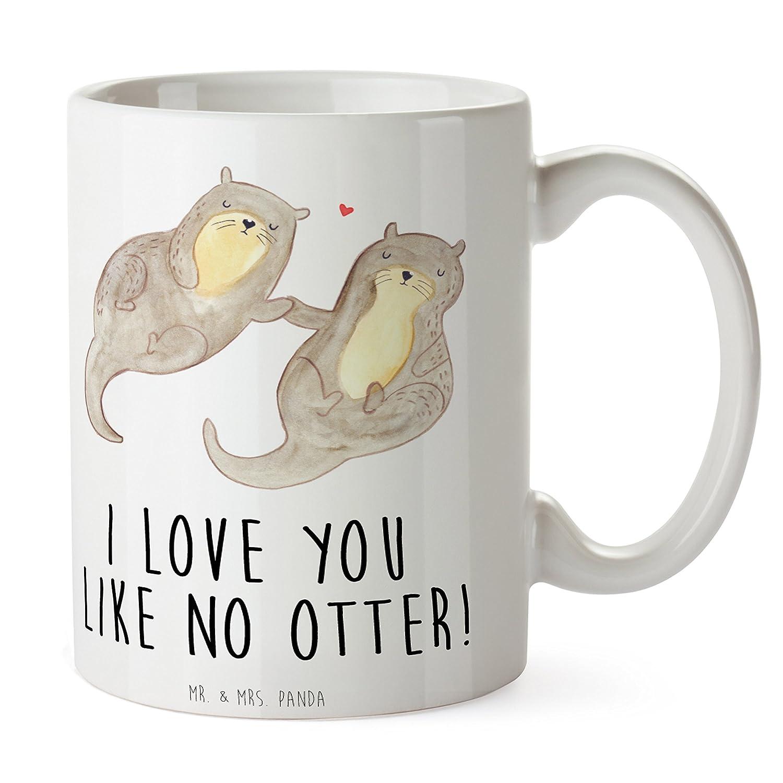 Mr. & Mrs. Panda Tasse Otter Händchenhaltend - 100% Handmade in ...