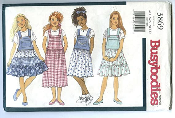 Butterick 3960 Girls Easy Jumper Sewing Pattern ~ Size 7-14