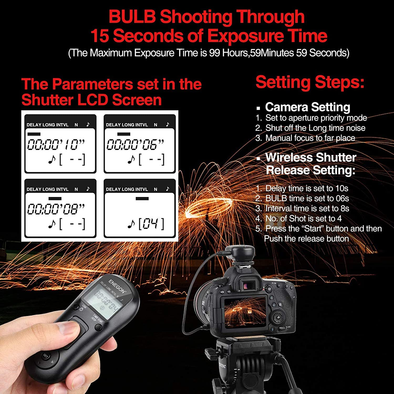 Camera, Photo & Video Electronics ENEGON Wireless Remote Shutter ...