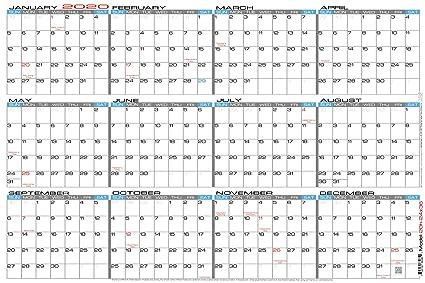 2020 Wall Calendar Amazon.: JJH Planners   Paper   24