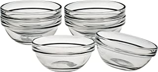 product image for Luminarc Stackable 3 Inch Glass Pinch Bowl, Set of 6
