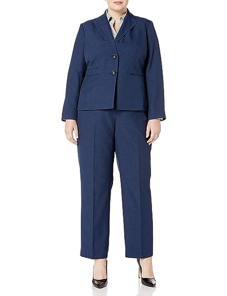 Amazon.com: Le traje de mujer Plus, talla Dos botón azul ...
