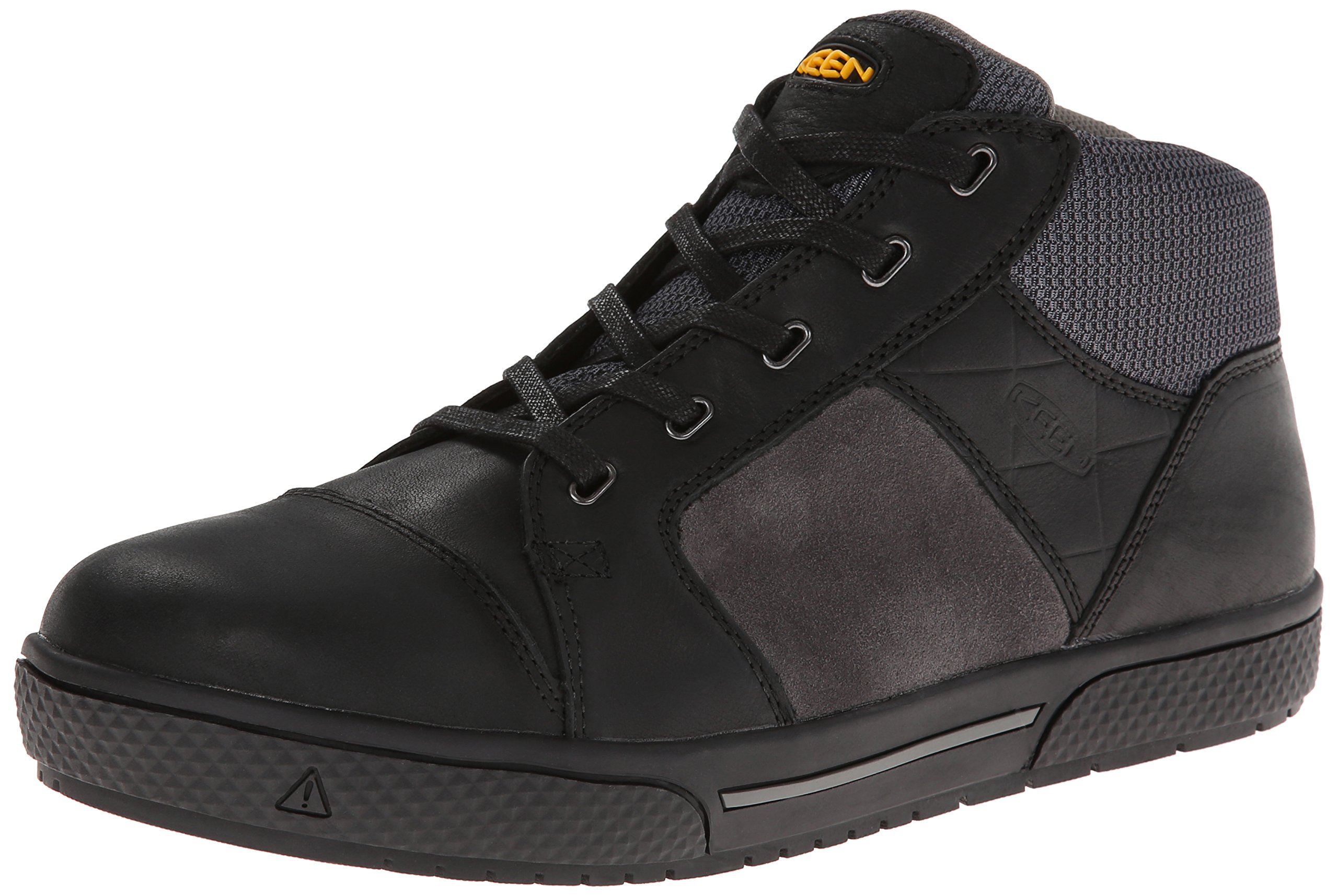KEEN Utility Men's Destin Mid Steel Toe Shoe,Black/Gargoyle,12 EE US