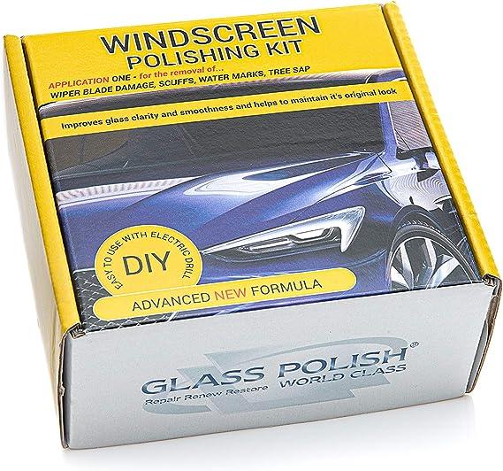 Glass Polish Polier Diy Reparaturset Für Windschutzscheibe Entfernt Wischerblatt Schäden Oberflächenkratzer Wasserflecken 50 Mm Komponenten Auto