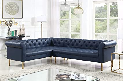 Amazon Com Iconic Home Noah Left Facing Sectional Sofa L Shape Pu